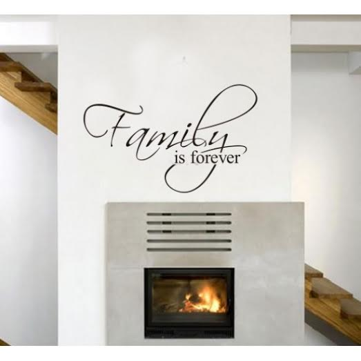 Wall Sticker With Inspirational Quotation and Family Quotes