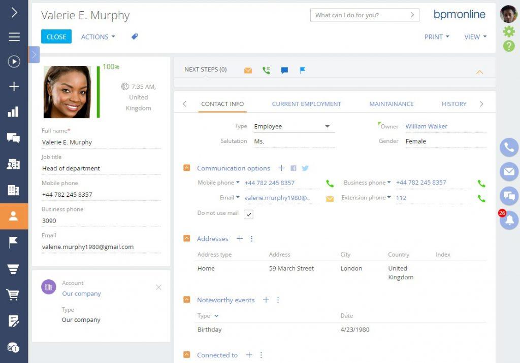 bpm'online customer management software