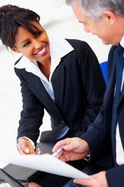 businesswoman-with-client