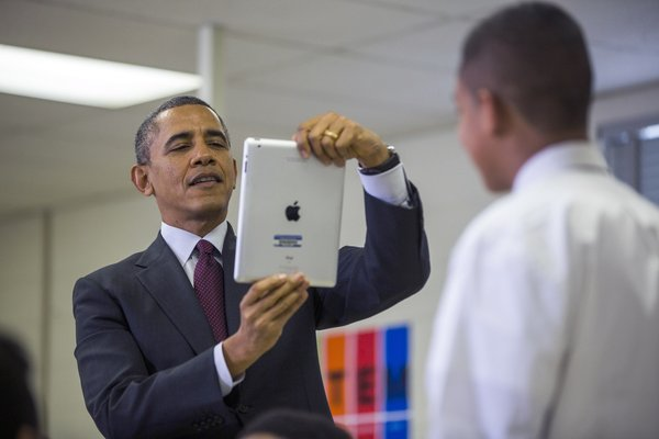 Obama Touts Private Pledge of $750 Million for School Technology