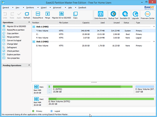 EaseUS Partition Master Free Gets Your Drives Resized and Partitioned
