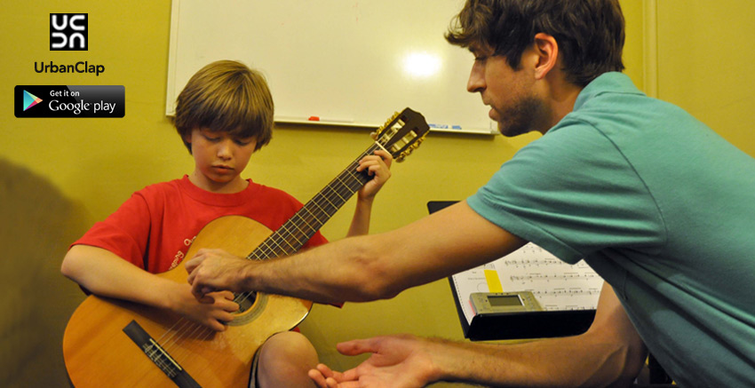 Step by step instructions to find UrbanClap applications for discover Guitar Teachers Online